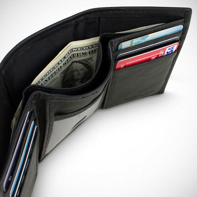 Mens Slim RFID Trifold Wallet Credit Card Money ID Security Safe Wallet New