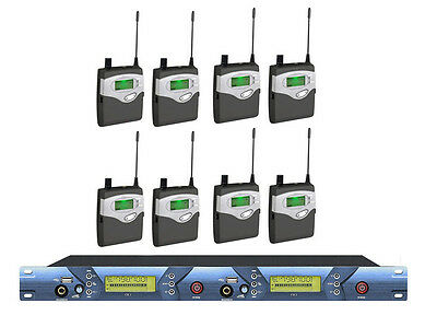 UHF in-ear monitoring system, stage monitor system stage performance 8 receivers