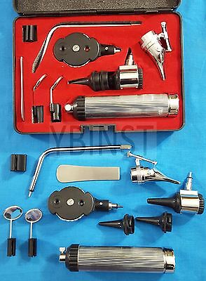 NEW Professional ENT NASAL OPHTHALMOSCOPE / OTOSCOPE DIAGNOSTIC SURGICAL Set ENT