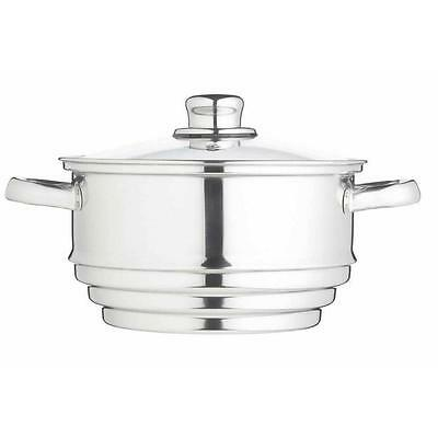 Kitchen Craft Stainless Steel Universal Steamer Traditional (16cm, 18cm, 20cm)