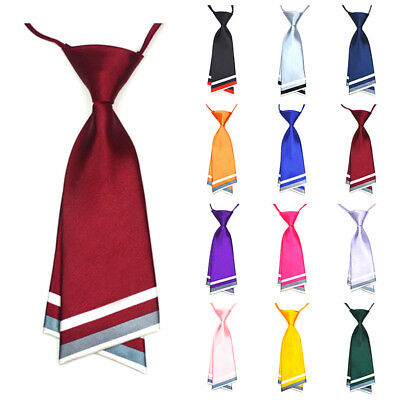 Women Girls Tie School Pre-tied Necktie Bowtie Bow Neck Tie Striped Adjustable