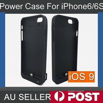 AU 6800mAh External Battery Backup Power Bank Charger Case Cover For iPhone 6 6S
