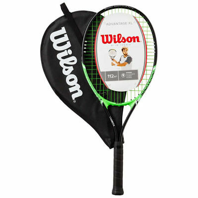 Wilson 4 3/8 Advantage XL Tennis Racket Pre-Strung AirLite Racquet w/ Cover/Case