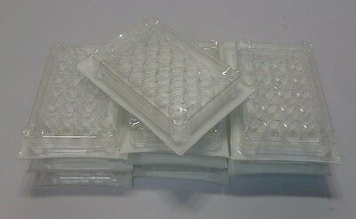 Lot 10 Nest 702001 Cell Culture Plates 24 Well, Sterile, Individually Sealed