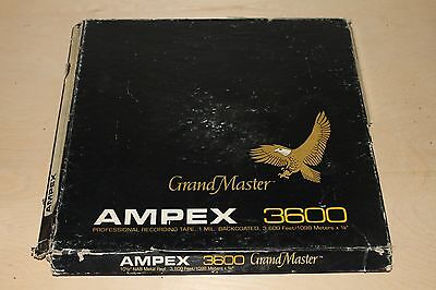 "Ampex 10-1/2"" 10.5"" Metal Reel To Reel Tape Grand Master 3600 GM-3600 Akai TEAC"