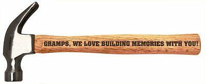 Father's Day Gift by Personalized Gifts Wood Steel Hammer (A-P-L-WH-0008-01) FDT