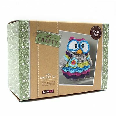 Get Crafty Crochet Owl Kit Handmade Set Making DIY Crafty Knitting Animal