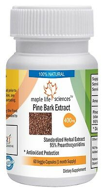 Pine Bark Extract Capsules 95% OPC Pure & High Quality Powerful Antioxidant