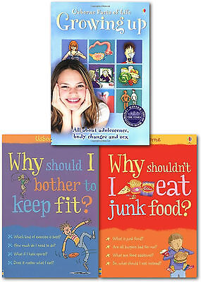 Usborne Facts of Life Growing Up 3 Books Collection Set for Boys and Girls NEW