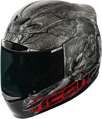 Icon Airmada Thriller Full Face Motorcycle Motorbike Helmet - Black