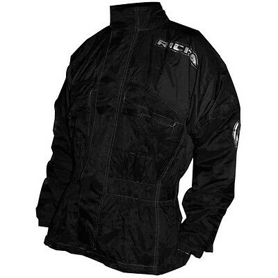 Richa Rain Warrior Heavy Duty 100% Waterproof Motorcycle Over Jacket - Black