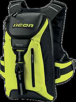 Icon Squad 3 Motorcycle Motorbike Strong Backpack Rucksack - Mil-Spec Yellow