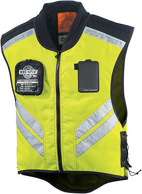 Icon Mil-spec Mesh Hi-Vis Reflective Motorcycle Motorbike Over Vest - Yellow