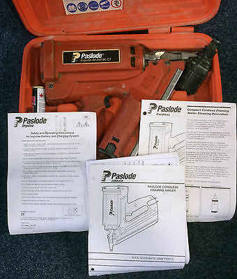 Paslode impulse IM350/90 CT 1ST fix nailgun -1 X Battery and carry case