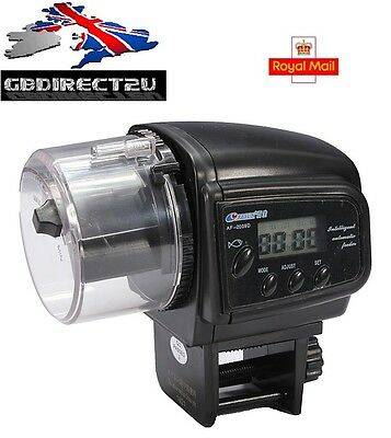 NEW 2016 UK High Quality LCD Timer Automatic Aquarium Fish Tank Feeder