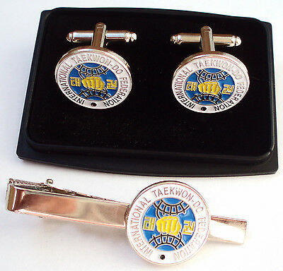 ITF TAEKWONDO CUFF LINKS - Also - Suits, Books, Bags, Ties, Pads, KeyRing & more