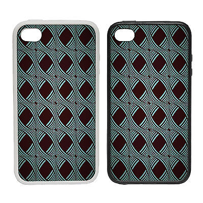 Stripe Weave Pattern -Rubber and Plastic Phone Cover Case- Abstract Design
