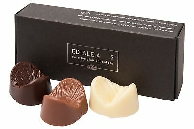 Edible Anus Dark / Milk / White Belgian Novelty Chocolate Gift Box