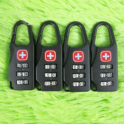 Safe Swiss Cross Symbol Combination Code Number Lock Padlock for Travel Luggage