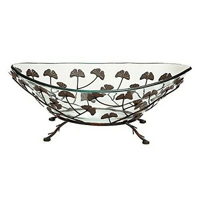 Deco 79 Glass Metal Bowl 24 By 9-Inch New