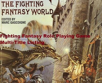 Fighting Fantasy Role Playing Game Jackson & Livingstone Puffin Multi Listing