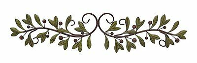 Metal Olive Branch Over The Door Wall Decor 47 In. New