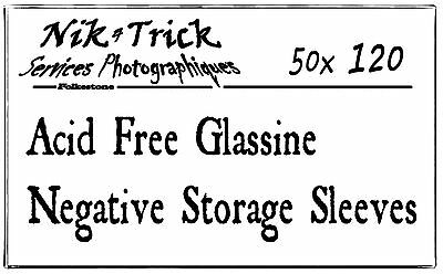 Negative Glassine Storage Sleeves 120 - cheaper than the Kenro alternative
