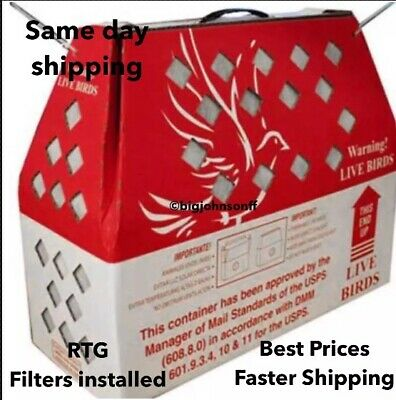 Horizon Shipping Boxes for Live Birds Single Shippers Chickens Pheasants Poultry