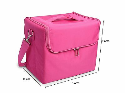Glow Professional Fabric Finish Make Up Beauty Cosmetic Case Pink
