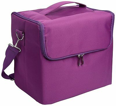 Glow Professional Fabric Finish Make Up Beauty Cosmetic Case Purple