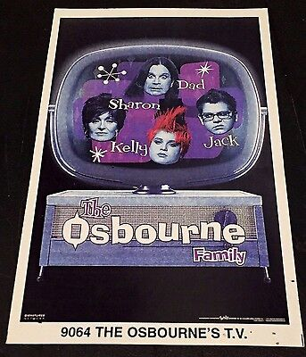 THE OSBOURNE FAMILY TV Rare MINI Promotional POSTER Identifier 3x5 Inch STARLINE