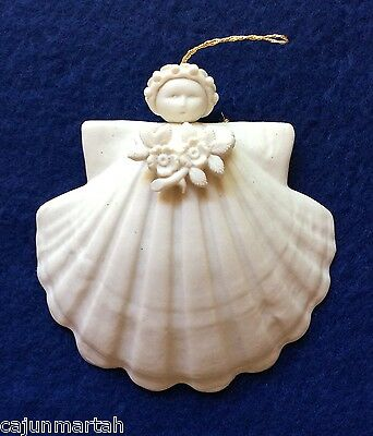 Margaret Furlong Angel Shell Ornament 1998 Wild Rose 3 inch with box