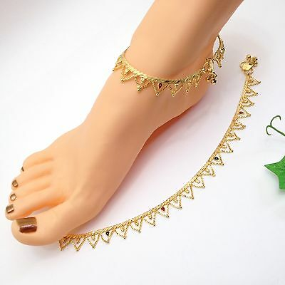 Indian Asian Bridal Jewellery Ethnic Wear 22ct Gold Plated Anklets Payal Pazaib