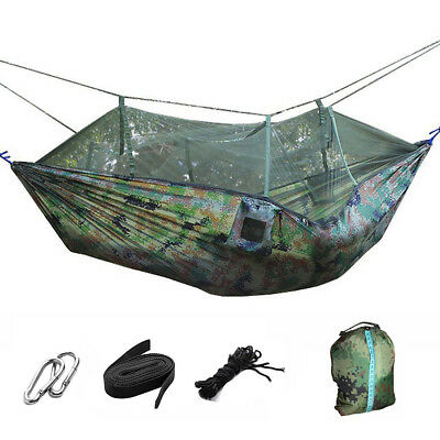 High Strength Hammocks Portable Jungle Camping Hammock Mosquito Net Outdoor