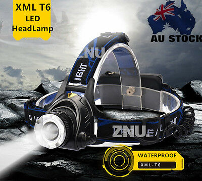2500Lm XM-L T6 LED 18650 Zoomable Headlamp Headlight Head Torch Lamp charger