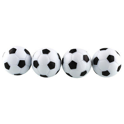New Fun Plastic 4pcs 32mm Soccer Table Foosball Ball Fussball Game Black+White