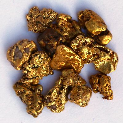 x3 Beautiful Gold Nuggets Flakes from Alaska