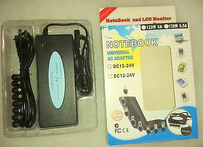 NEW 120w Universal AC Adapter Power USB Charger Laptop NoteBook 8-Tips