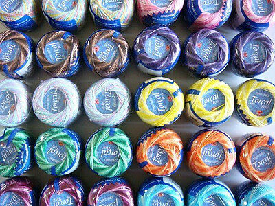Free Ship Lot 10 Balls Variegated #5 Perle/pearl Cotton Threads Needlepoint