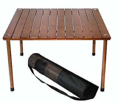 Table in a Bag W2716 Original Low Wood Portable Table with Carrying Bag [W2716]