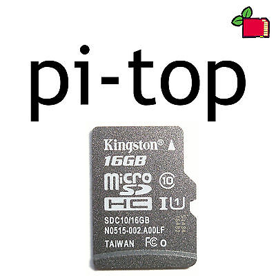 16GB CLASS10 SD Card Preloaded with Pi-Top Preinstalled for Raspberry Pi