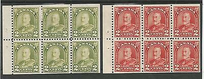 Canada 1930 Gv Booklet Panes Fresh Unused  See Scans