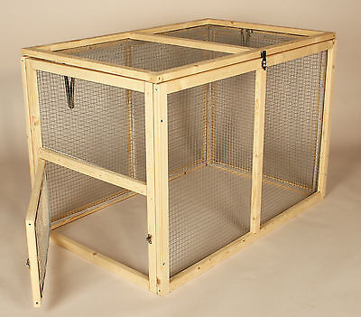 Rabbit Run Ferret Guinea Pig Bunny Outdoor Cage Small Animal Wood Pet Pen Large