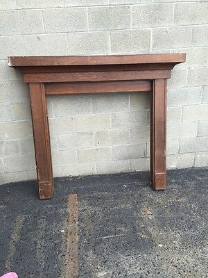 "Cm 25 Antique Oak Fireplace Mantel 63"" X 54"" X 9"""