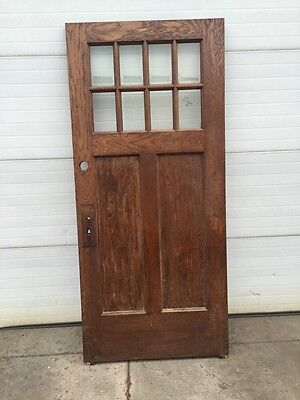 Cm 43 Antique Beveled Glass Eight Light Entrance Door Arts And Crafts
