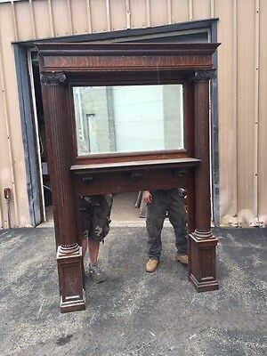 Cmz Antique Oversize All Ok Quartersawn Fireplace Mantle
