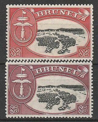 Brunei 1952 River View $2 And $5 Mnh ** Top 2 Values