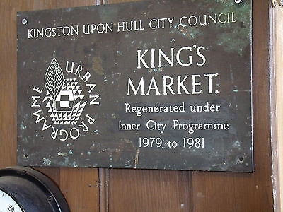 vintage Hull Kings Market sign thick bronze/brass