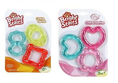 Bright Starts Baby Chill and Teeth Teething Rings BPA FREE age 3 months +