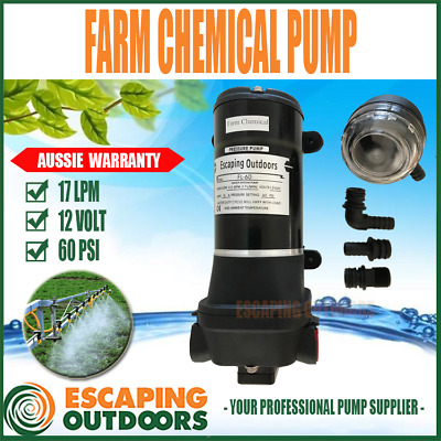 FARM PUMP 60 PSI 17L/pm Chemical Spray Pressure Pump 12 volt Agriculture Weed